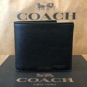 NWT Authentic Coach Sport Calf Leather Wallet